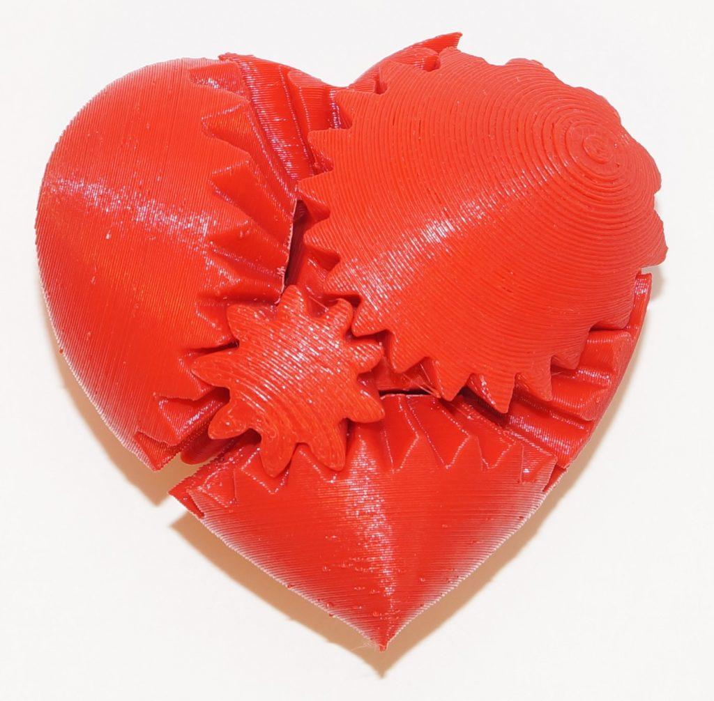 Сердце на 3d принтере
