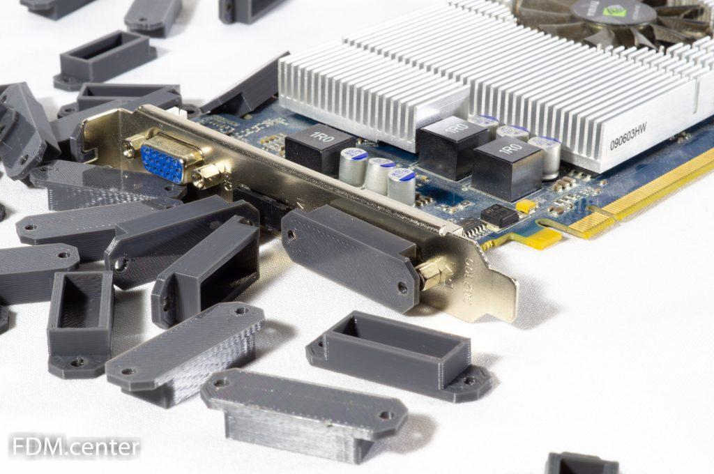Заглушки на компьютерные разъемы 3d печать