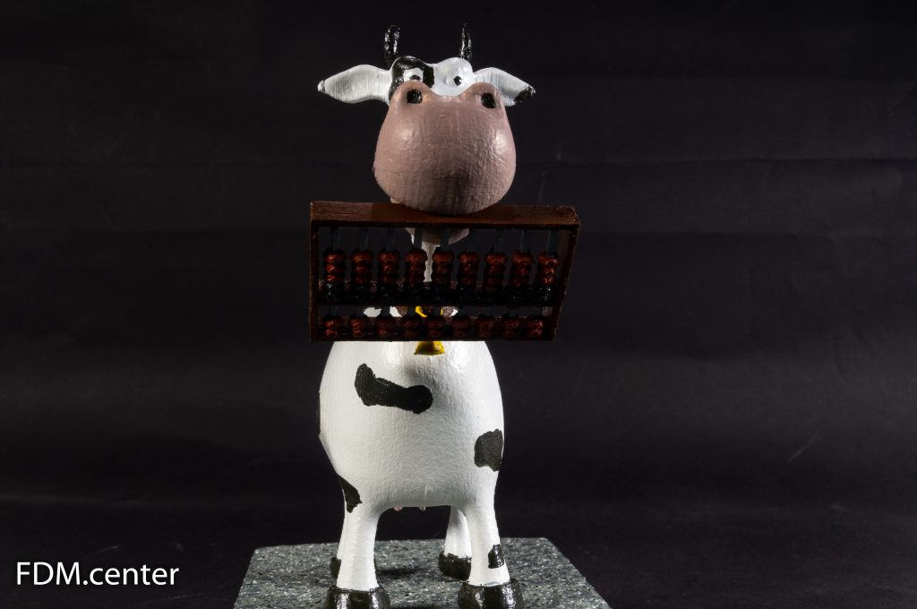 """Корпоративный сувенир """"Корова со счётами"""" 3d печать"""