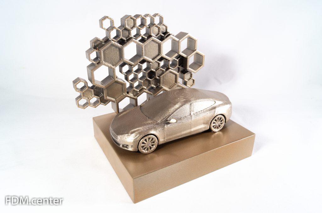 """Корпоративный сувенир """"Автомобиль Tesla"""" 3d печать"""