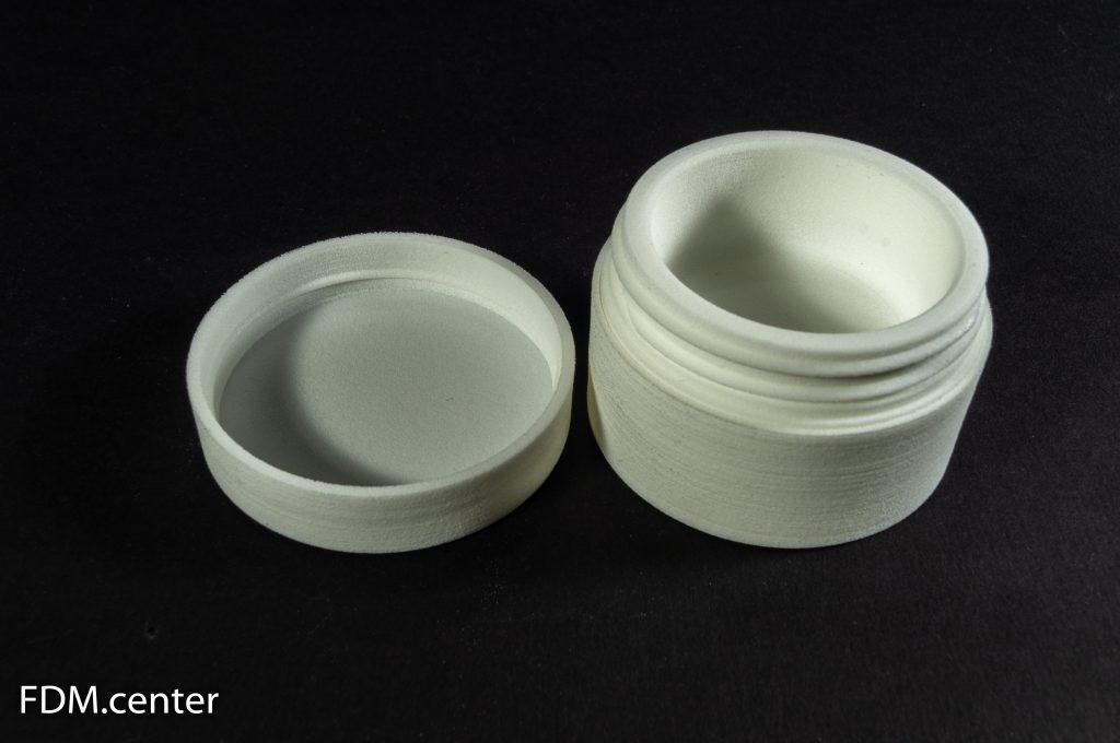 Макет баночки для крема для парфюмерного производства 3d печать SLS