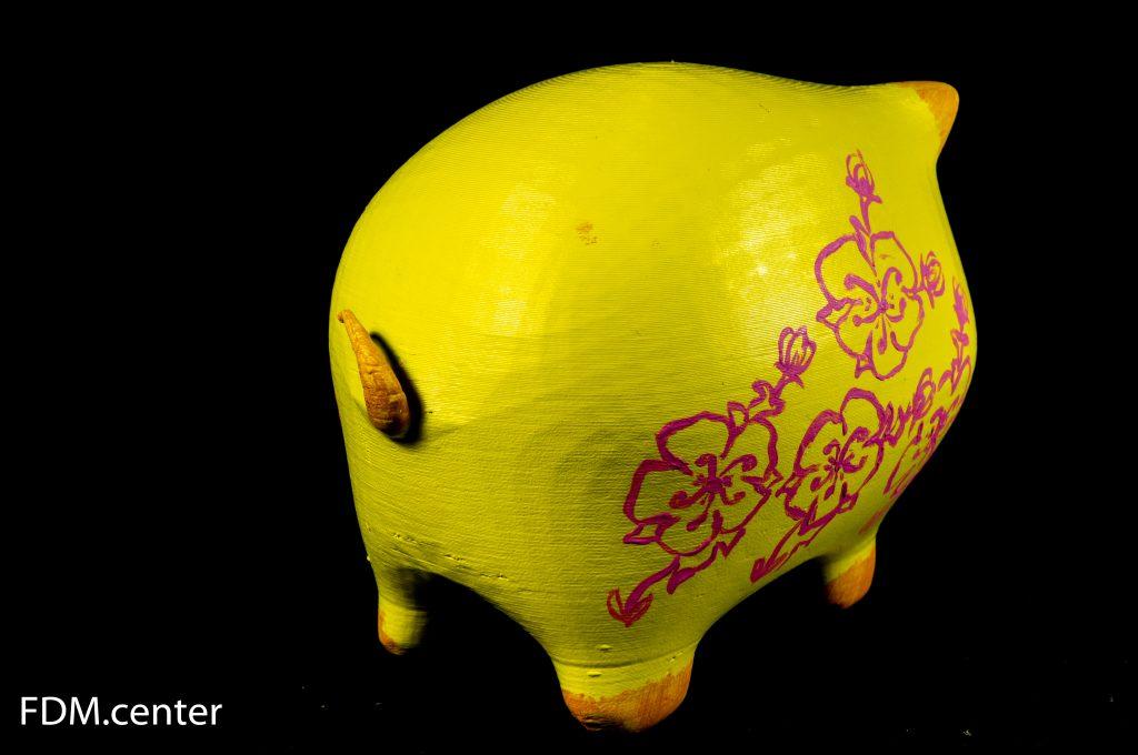 """Новогодний сувенир """"Желтая свинья"""" 3D печать"""