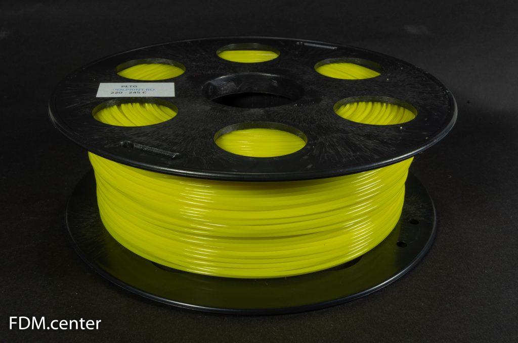 Пластик для 3d принтеров PETG желтый
