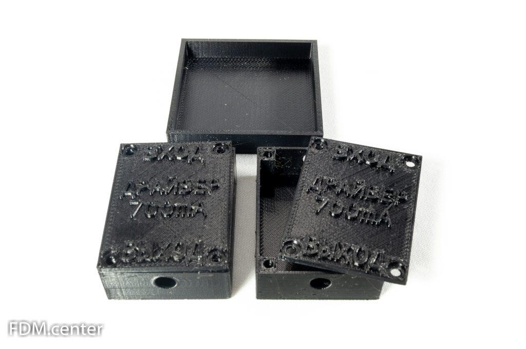 Корпус устройства с надписями 3d печать